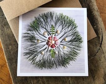 Banyon Tree Mandala Note Card, 5x5 square with envelope, blank inside.