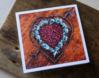 Heart Healer Note Card, 5x5 square with envelope, blank inside.