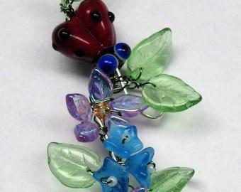 Ladybug  Flower Garden Sun catcher