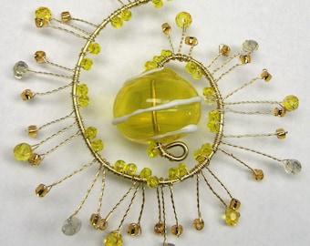 Yellow Sunburst Sun Catcher