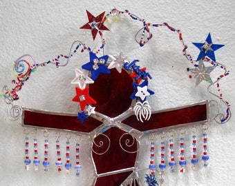 OOAK Happy 4 Patriotic Goddess