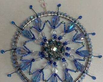 blue Mandala Suncatcher