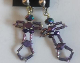 OOAK Purple Goddess Earrings