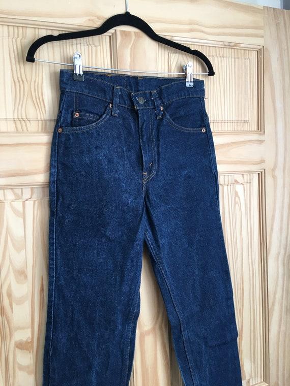 1980s vintage Levi's original riveted dark blue, s