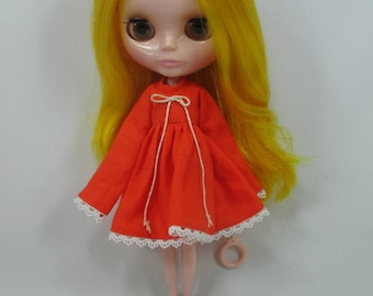 Costume outfit handcrafted long sleeve dress for Blythe Basaak doll 10-6