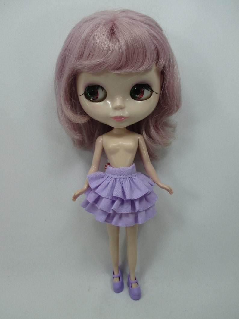 Handmade clothing fashion Basaak polka dots blouse for Blythe Pullip Doll  # A-1