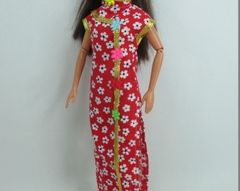 Handmade Barbie Outfit Traditional Chinese Qipao Cheongsam dress # 10