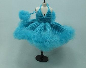 Handgemaakte gehaakte jurk outfit kleren voor Blythe pop # 200-51 breien