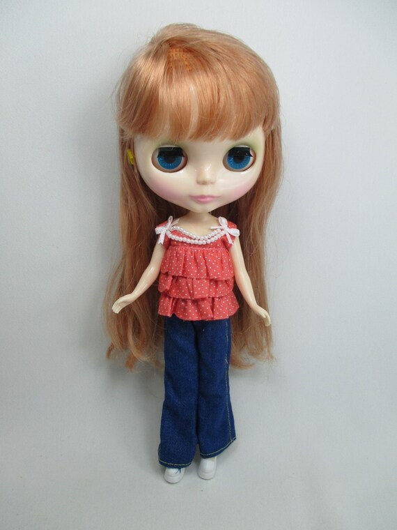 68 Blythe Dal Doll Outfit Handcrafted clothing Tee-shirt  Basaak # T