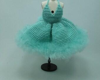 Handgemaakte gehaakte jurk outfit kleren voor Blythe pop # 200-53 breien