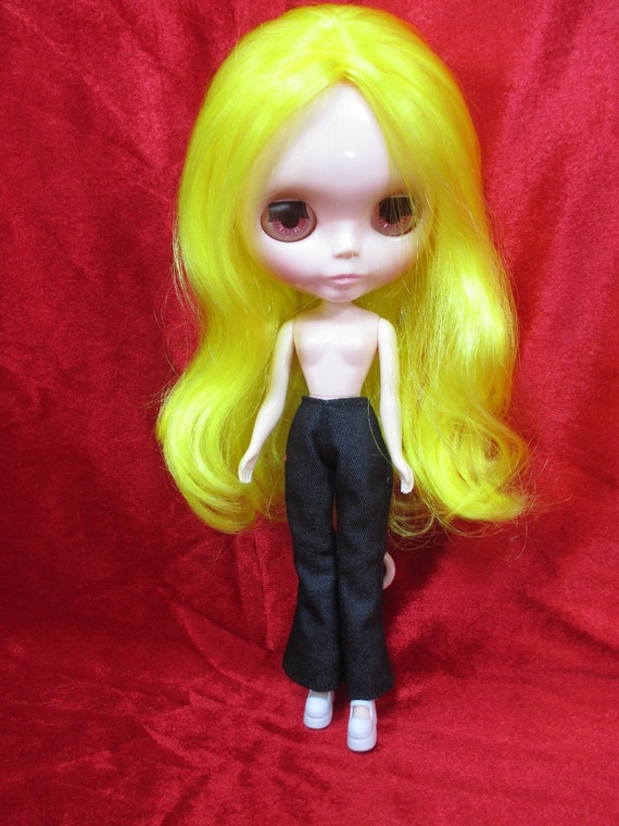 Handcrafted clothing pants shorts for Blythe Basaak doll # white-1