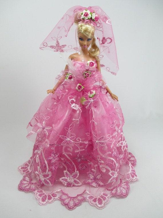 Barbie Suknia ślubna Lalka Z Welonem Royalty 12 Etsy