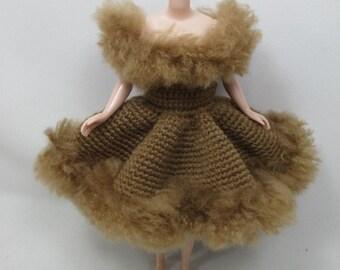 Handgemaakte gehaakte jurk outfit kleren voor Blythe pop # 200-34 breien