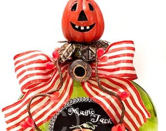 Potion Bottle, Potion, Halloween Potion, Halloween, Green, Orange, Pumpkin, Apothecary, Bottle