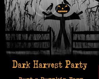 halloween invitation 5x7 printable halloween invite etsy