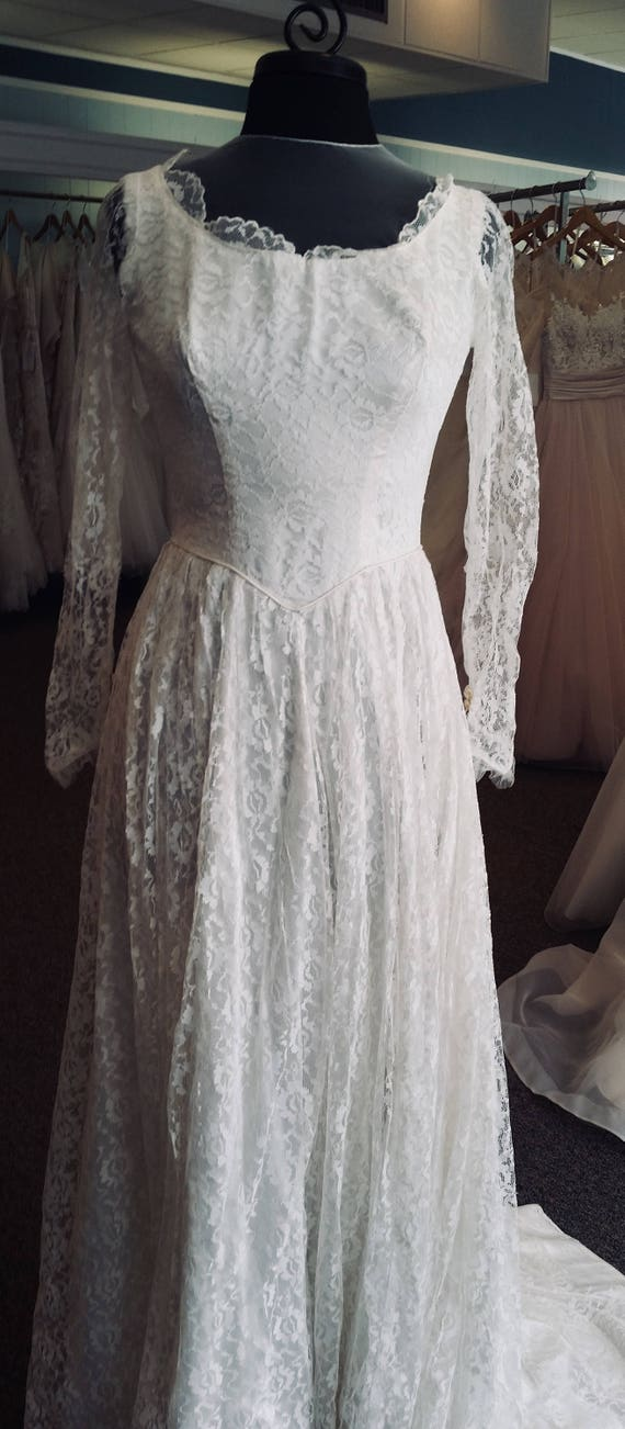 Handmade 1950s wedding gown