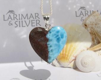 Larimar beach pendant by Larimarandsilver Ocean Pentagon faceted Larimar stone beadsurf pendantaqua tealLarimar supplygift for friend