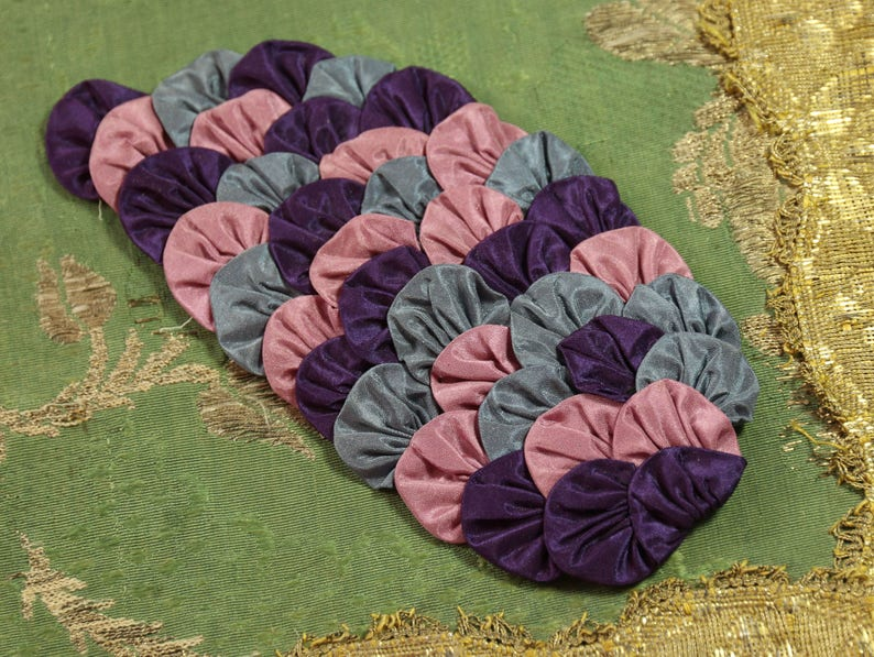 Antique fabulous silk applique passementerie trim art deco etsy
