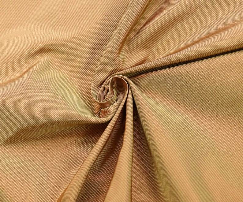 1 yard Lush pure silk taffeta faille fabric iridescent copper green finely  ribbed material dress making corset historical 18th 19th century