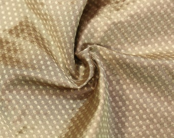 1/2 yard lush silk dot taffeta pewter gray brown fabric pure silk material dress making corset historical 18th 19th century pecan shade