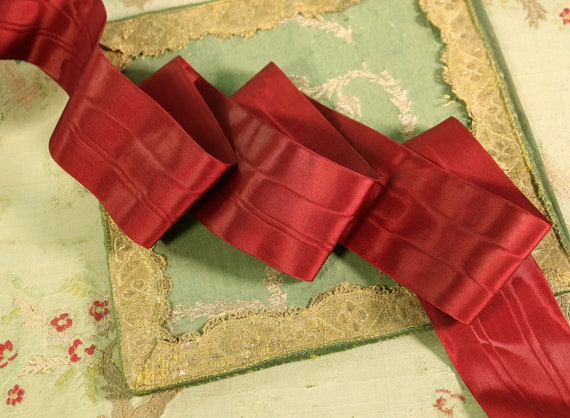 """Vintage French Rich Pink Ombre Rayon Ribbon  Flowers  3//16/""""  3 yards"""