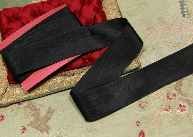 "BTY vtg pink velvet Swiss 1 1//2/"" 1.5/"" rayon ribbon Millinery hat doll dress"