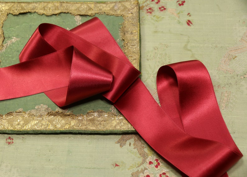 1930s FRENCH Red /& Black SILK OMBRE Ribbon Trim Flapper Art Deco Millinery work