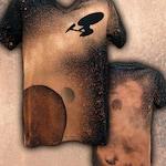 FINAL CLEARANCE! Star Trek Enterprise NCC 1701-A Bleached T-shirt - Bella Canvas brand - Mens