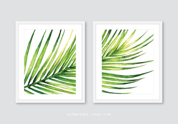 Palm Leaf Wall Art Print Tropical Leaf Wall Art Botanical | Etsy