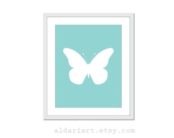 Butterfly Print Butterfly Wall Art Nursery Wall Art Nursery print Nursery Wall Art Custom Color baby Girl Nursery Decor Butterfly Nursery