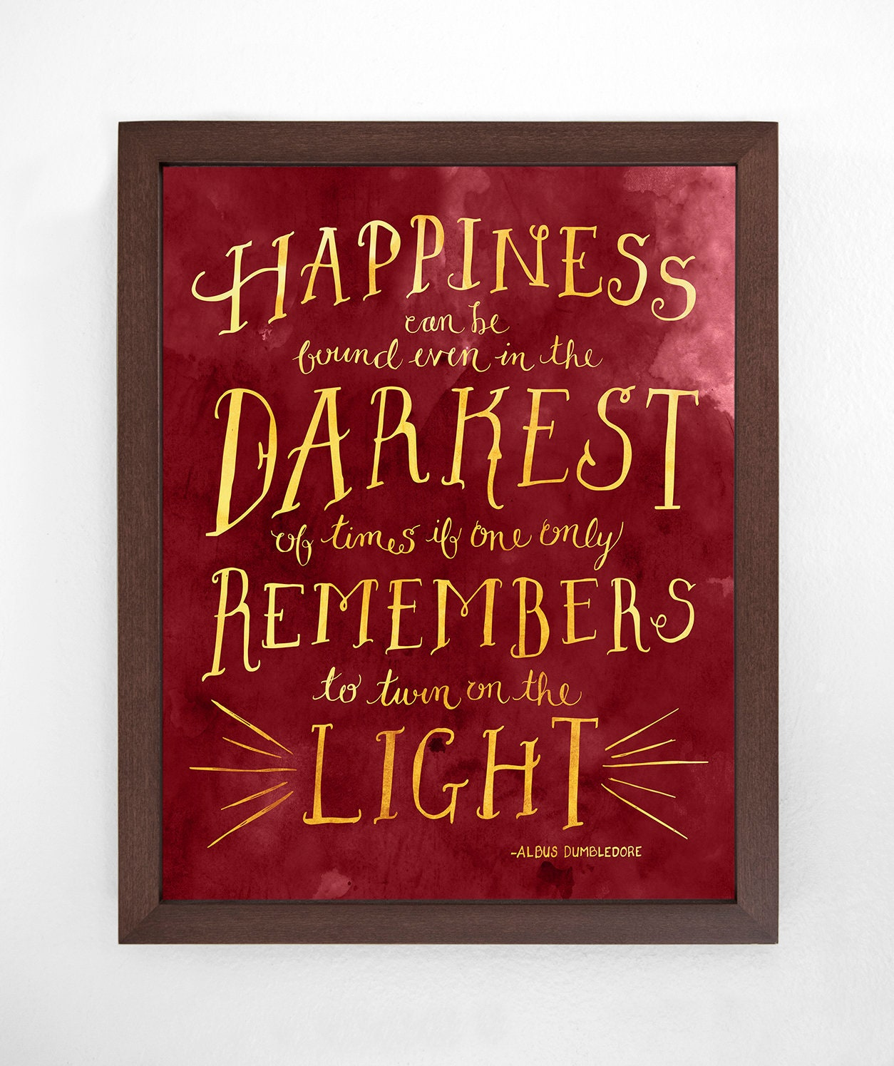 Dumbledore Quote Art Printable From Harry Potter With Hand Etsy