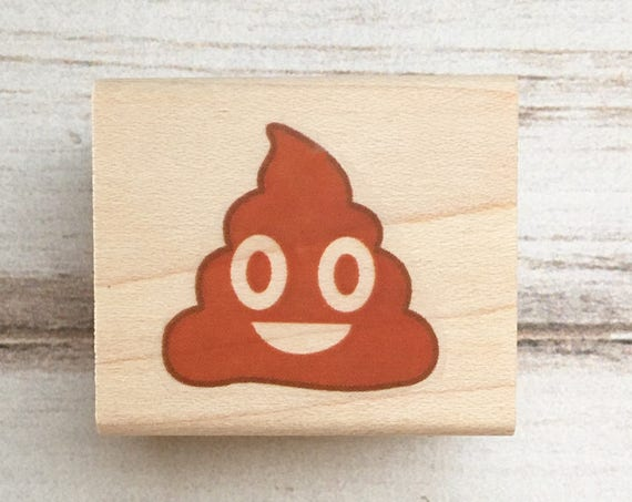 Poop Emoji Rubber Stamp