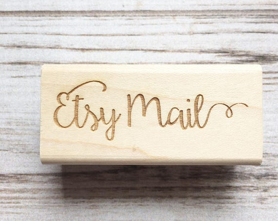 Etsy Mail Rubber Stamp