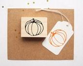 Pumpkin Rubber Stamp Halloween Autumn Fall Thanksgiving