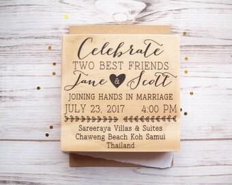 Wedding Invite Stamp Etsy