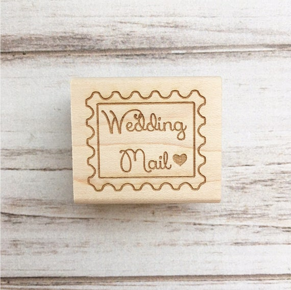 Wedding Mail Stamp - Save the Dates Invitations Envelope Stamp