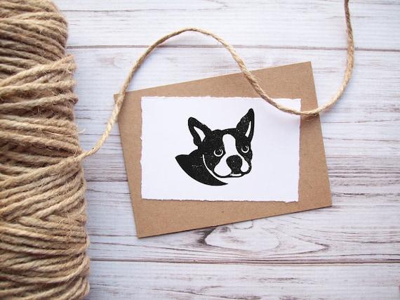 Boston Terrier Dog Stamp - Custom Pet Portrait Stamp