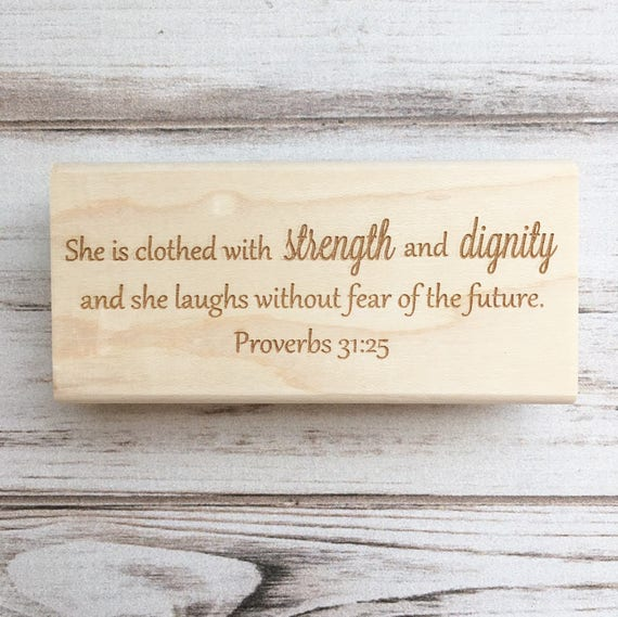 Bible Verse Stamp - Proverbs Thirty One Christian Scripture Quote Custom Rubber Stamp