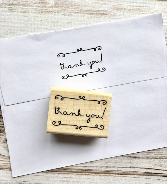 Thank You Stamp Script - Simple Thank You Rubber Stamp