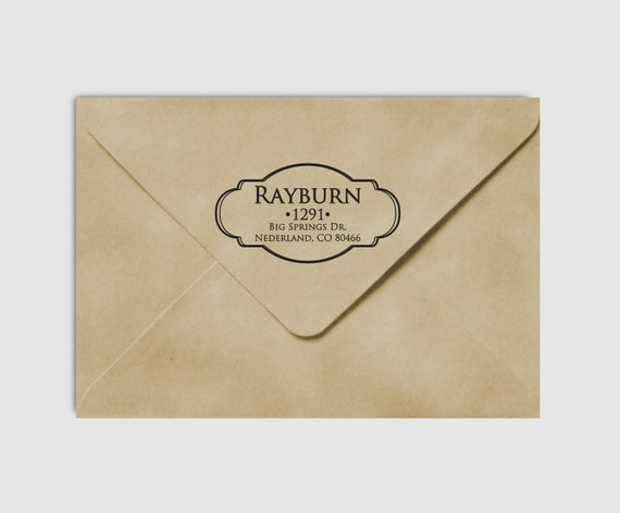 Return Address Stamp Elegant Vintage Border , Custom Personalized Wedding Address