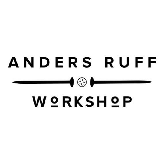 Anders Ruff Workshop stamp, 5 x 2 in.