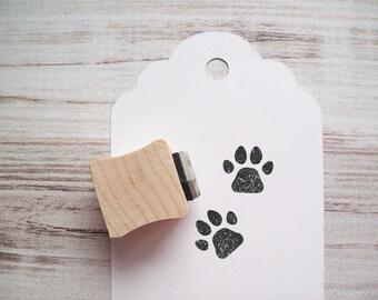 Cat Dog Paw Print Stamp Cat Lady Dog Lady Rubber