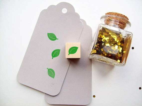 Leaf Stamp Mini Rubber Stamp