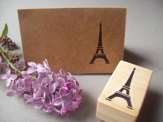 Eiffel Tower Rubber Stamp - Paris France French Stamp Travel Wanderlust