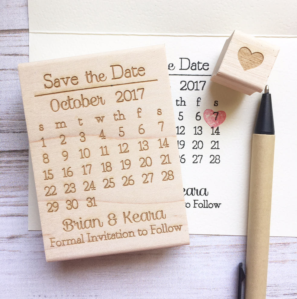 Save the date calendar in Melbourne