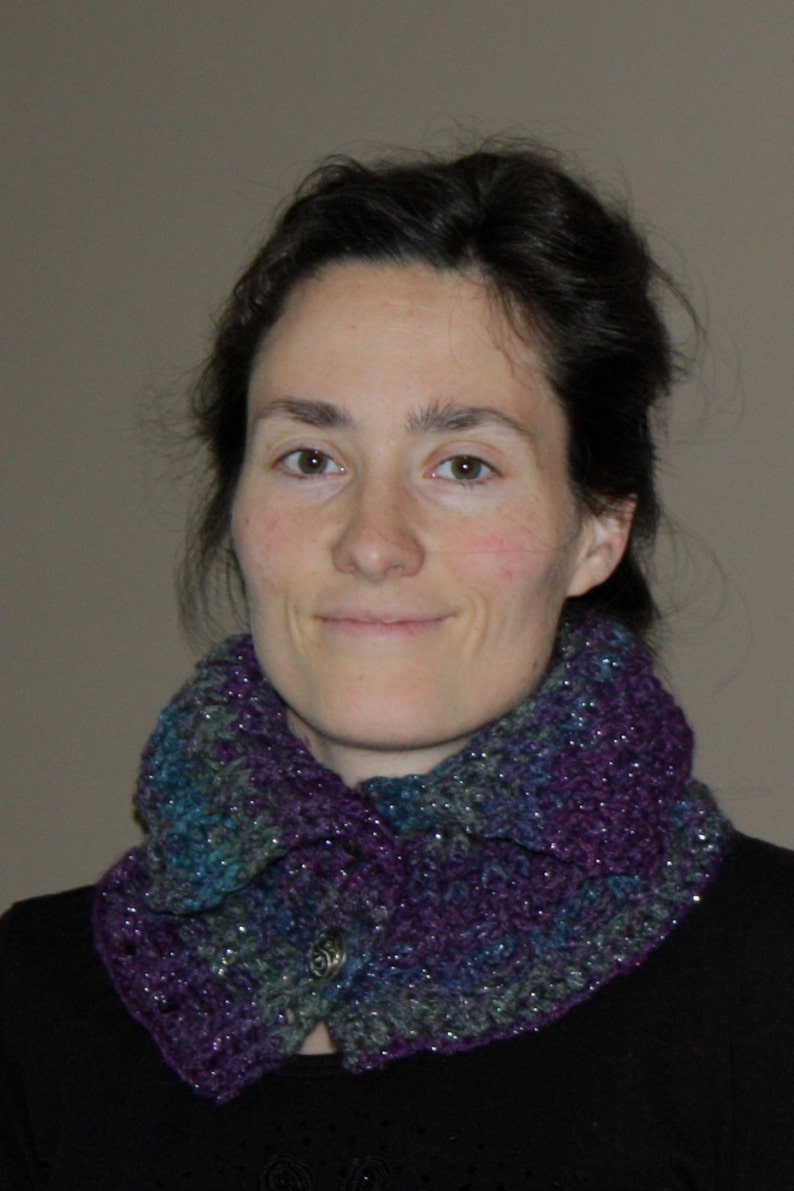 crochet cowl digital download for women Ribbed Neck Warmer pdf PATTERN scarf capelet