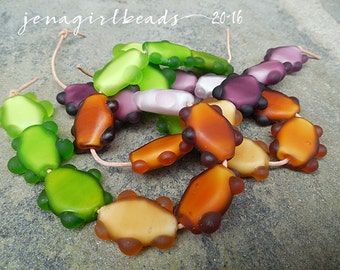 SALE!! Autumn Squeeze Whiteheart Lampwork Beads