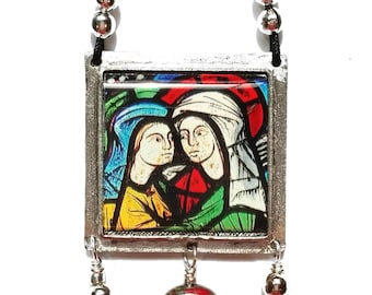Medieval Stained Glass Pendant