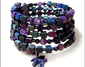 Purple Haze Coil Bracelet