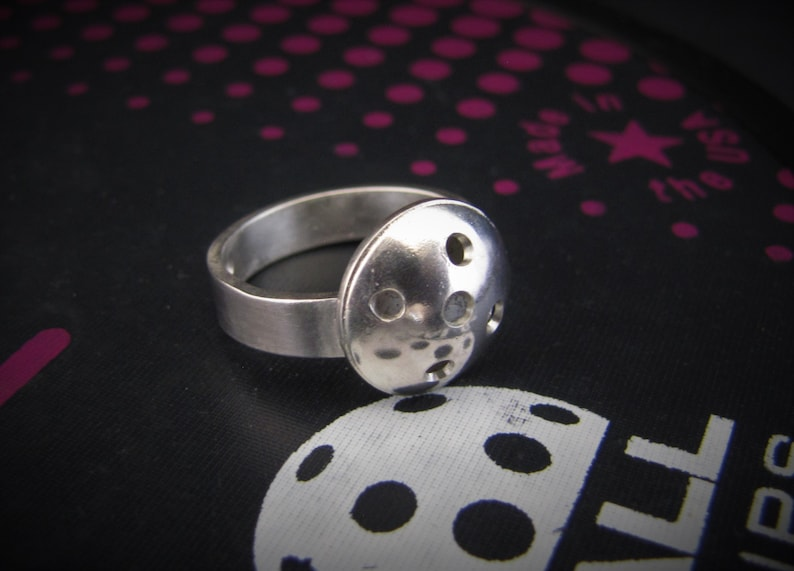 Plus Arcimboldo Pickle Nose Postcard Classic Sterling Pickleball Ring Custom Made By Hand in USA